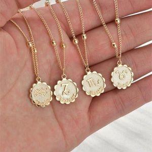 3/$33 Gold Pendant Zodiac Astrology Necklaces